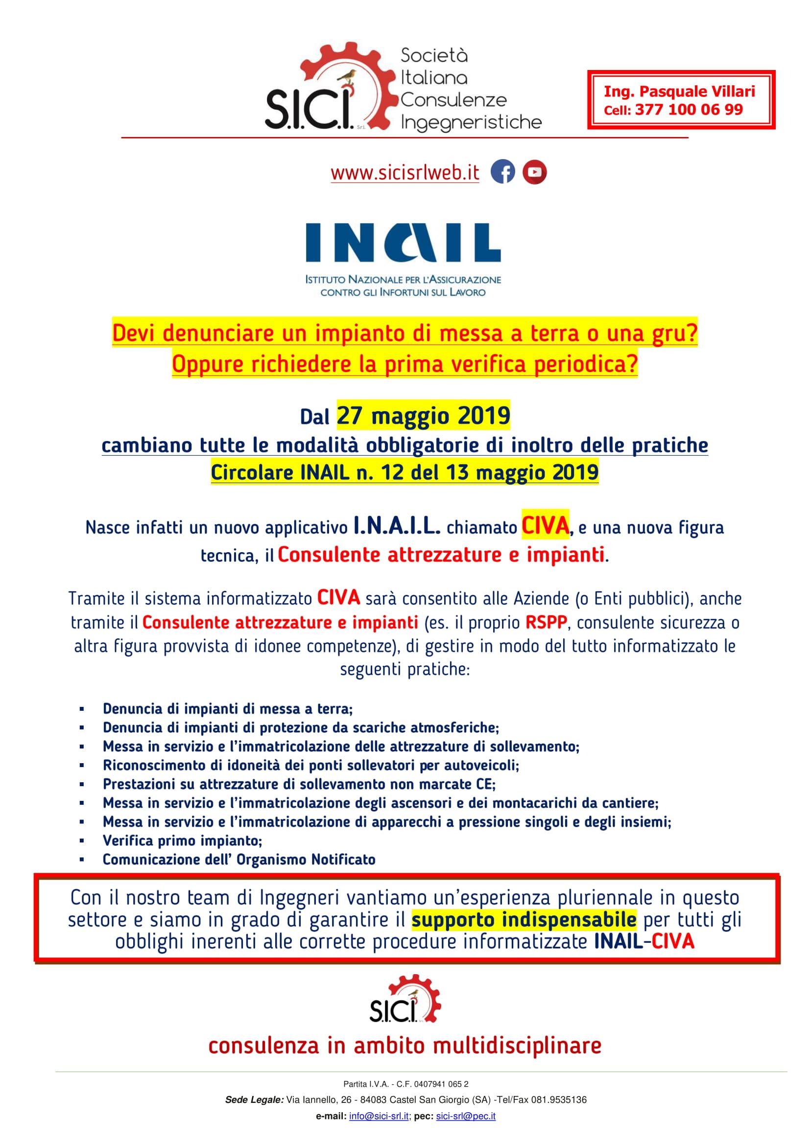 PRESENTAZIONE CIVA INAIL - SICI-1