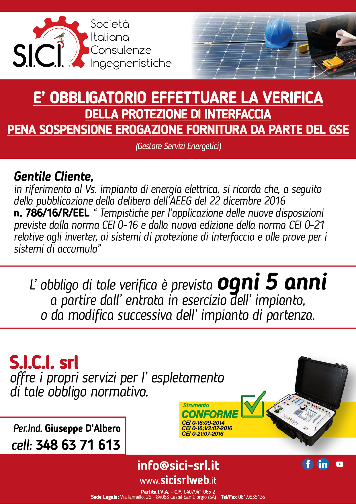 SICI - verifiche dispositivi interfaccia